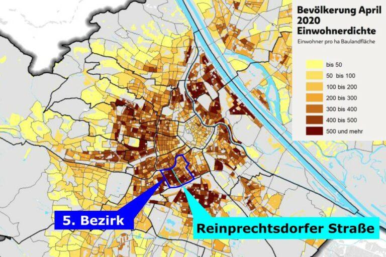 Bevölkerungsdichte in Wien