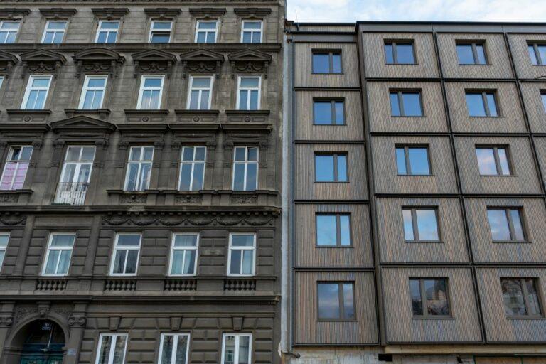 Gründerzeithaus und Hotelneubau am Mariahilfer Gürtel, Neubau nach Abriss, 1150 Wien