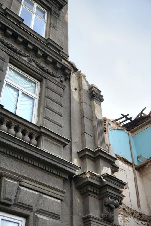 Abriss des Gründerzeithauses Mariahilfer Gürtel 33, 1150 Wien