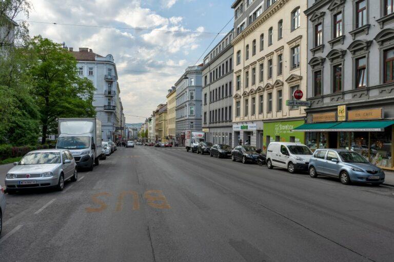 Reinprechtsdorfer Straße nahe Gürtel, Wiedner Hauptstraße