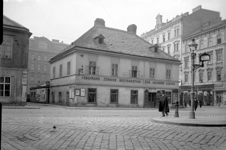 historische Aufnahme der Reinprechtsdorfer Straße, Wien, 5. Bezirk