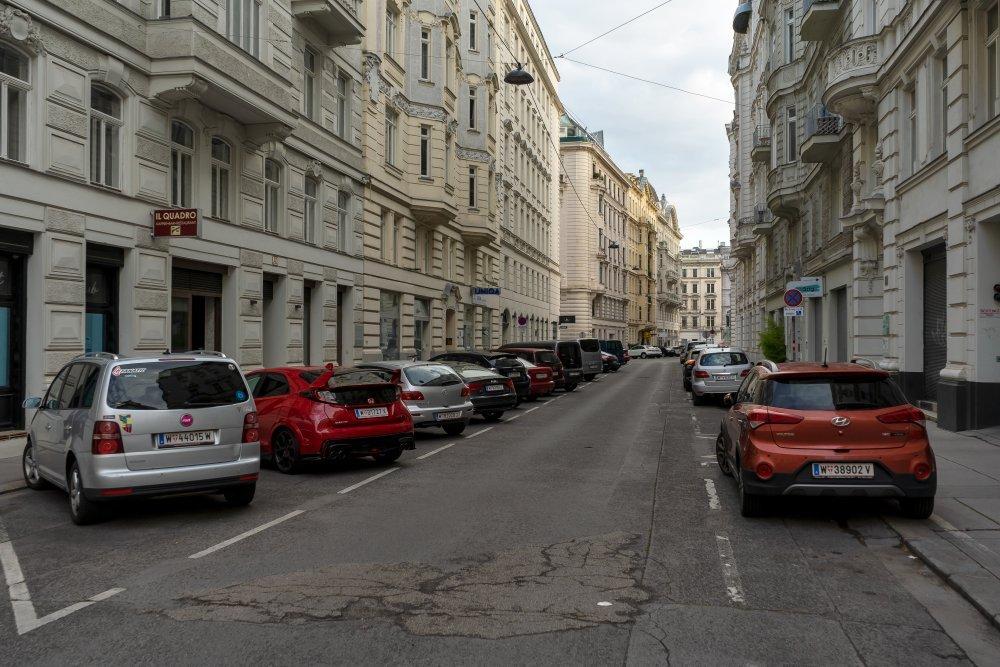 Biberstraße, in der Nähe des Stubenrings (1. Bezirk, Foto: 2020)