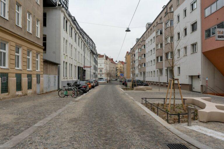 Wohnstraße im 14. Bezirk in Wien
