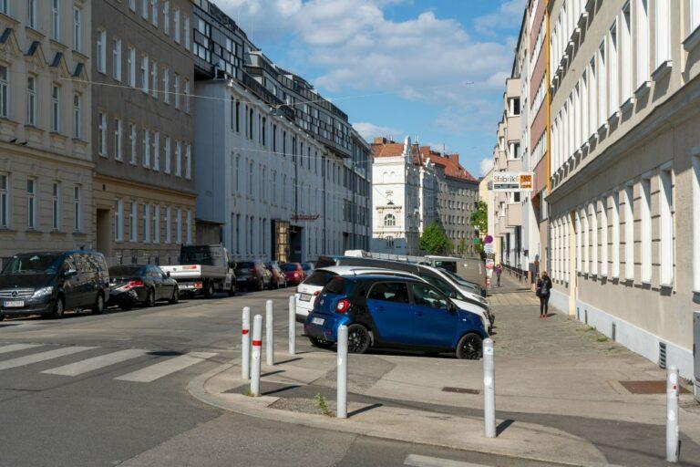 Goldschlagstraße vor dem Umbau, Matznergasse, Matznerpark