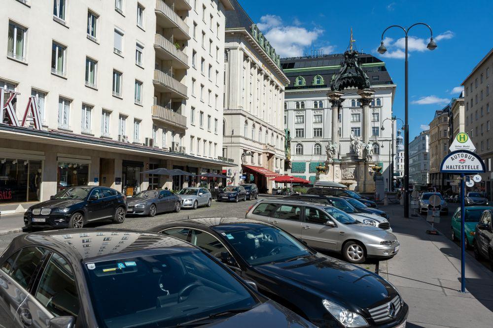 Hoher Markt in der Inneren Stadt in Wien, historischer Platz