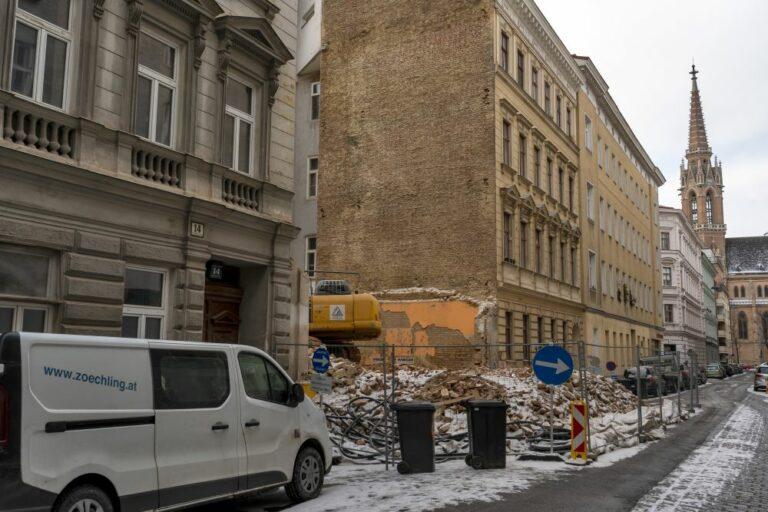 Krieglergasse in Wien-Landstraße, Abriss, Gründerzeithäuser, Kolonitzplatz, Weißgerberviertel, Pfarrkirche St. Othmar unter den Weißgerbern