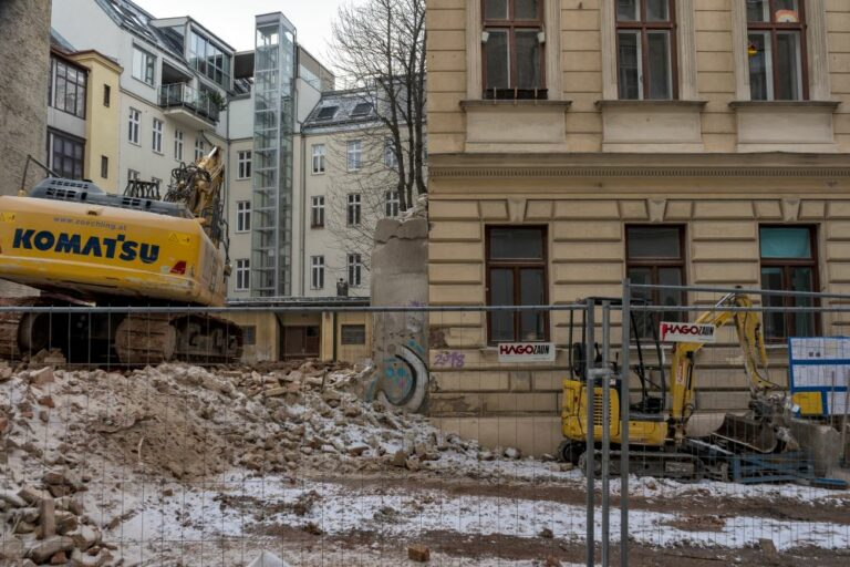 Haus nach Abriss und Gründerzeithaus in der Krieglergasse, 1030 Wien