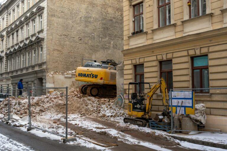 Abriss in der Krieglergasse, 1030 Wien