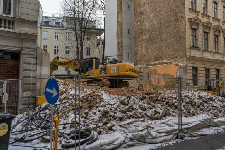 abgerissenes Haus im 3. Bezirk, Weißgerberviertel. Landstraße, Wien