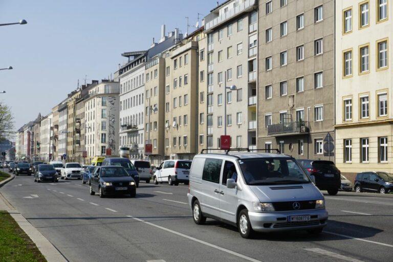 Landstraßer Gürtel, Autos, Häuserzeile, Fasanviertel, 3. Bezirk, Wien