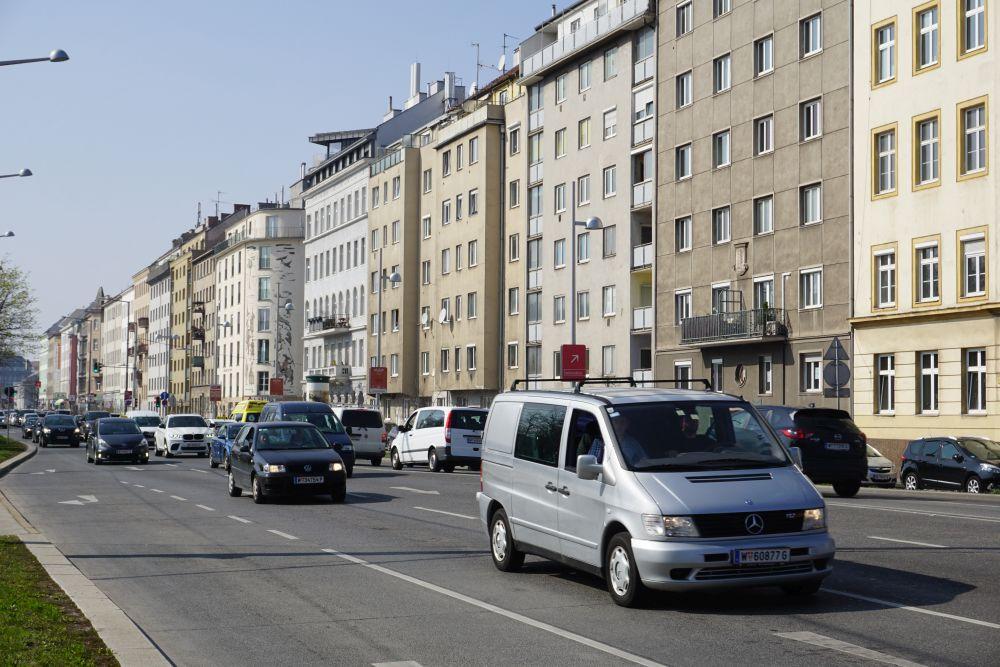 Landstraßer Gürtel, Autos, Häuserzile, Fasanviertel, 3. Bezirk, Wien