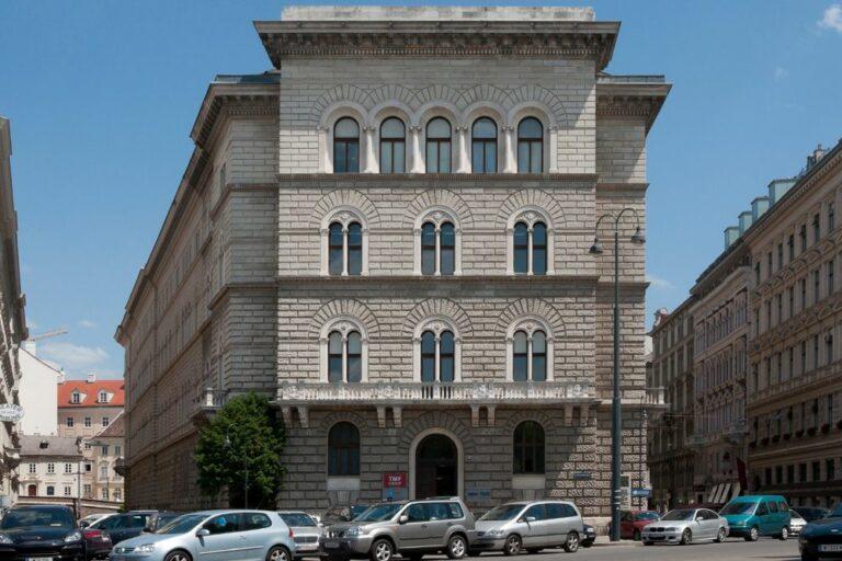 Gebäude in der Löwelstraße 20, 1010 Wien, Teinfaltstraße, Schreyvogelgasse