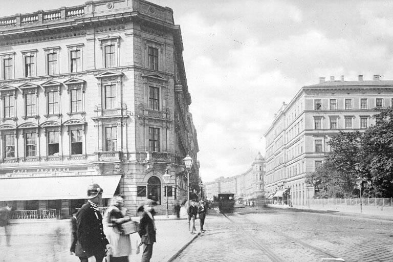 um 1900: Mariahilfer Gürtel und äußere Mariahilfer Straße (ÖNB)