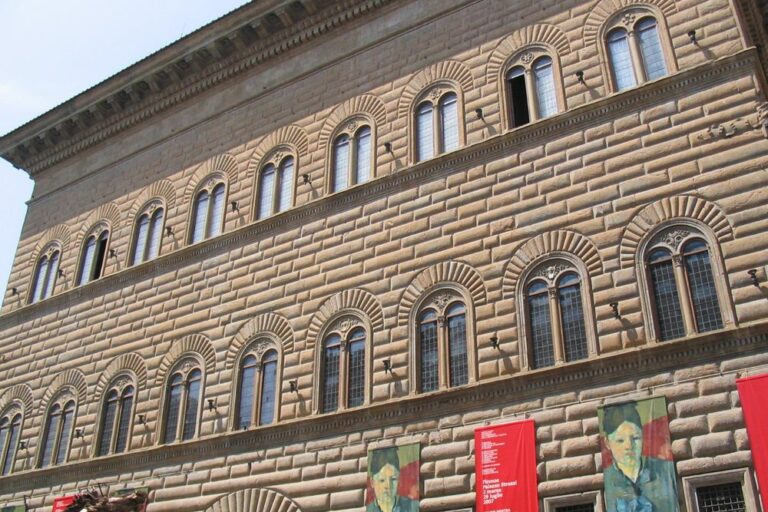 Palazzo Strozzi in Florenz, Italien, Renaissance-Palais