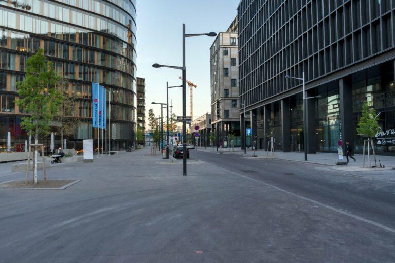 öffentlicher Raum im Quartier Belvedere, Erste Campus, Hauptbahnhof, Wiedner Gürtel