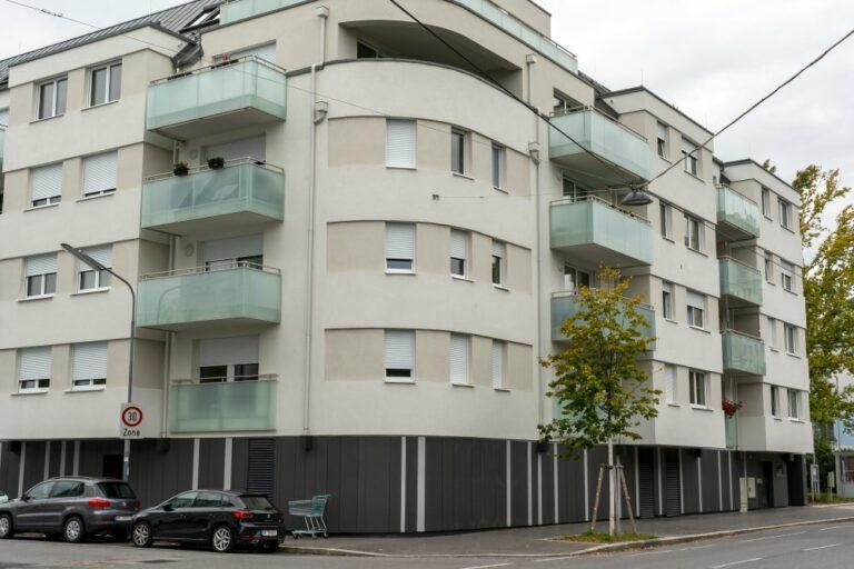 Neubau-Wohnhaus in Floridsdorf, Wien, Jedlesee