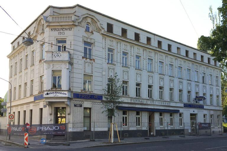 Hotel Karolinenhof wird abgerissen, Floridsdorf, Wien, Jugendstilhaus
