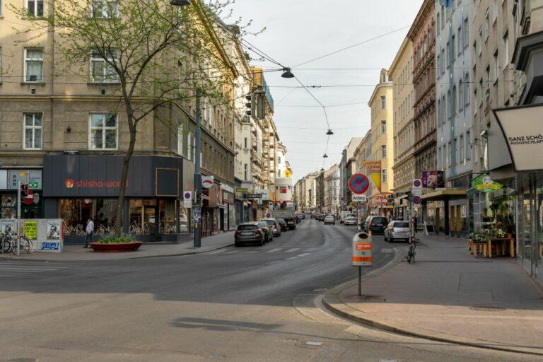 Reinprechtsdorfer Straße an der Kreuzung zur Margaretenstraße, 1050 Wien