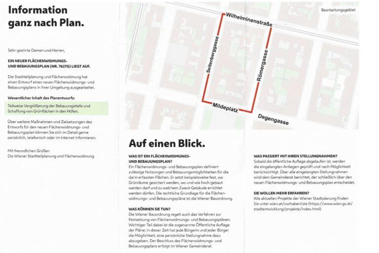Umwidmung, Infoblatt, Wien