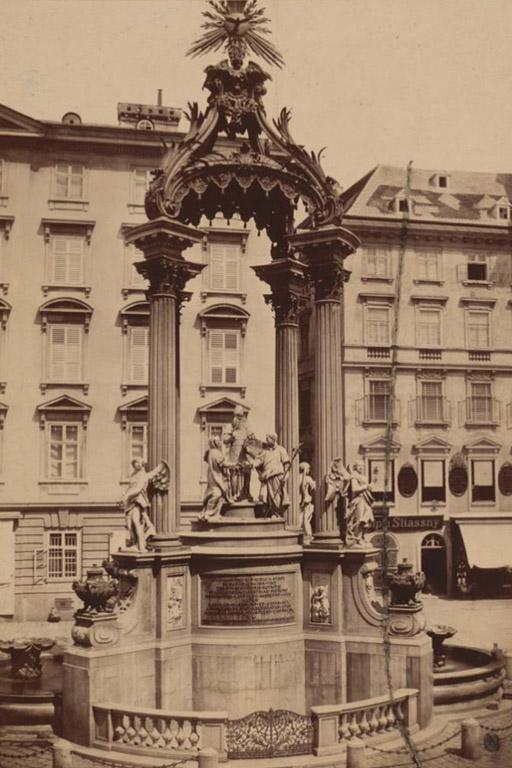 vor 1900: Brunnen am Hohen Markt (MAK, KI 16624-1)