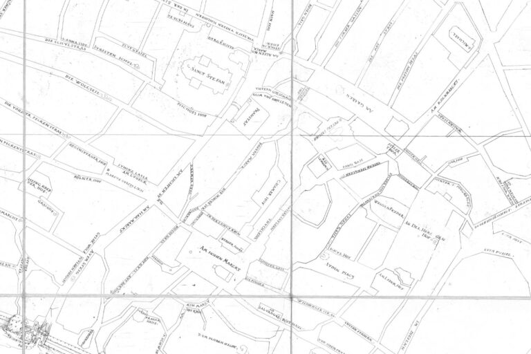 historische Karte Wiens