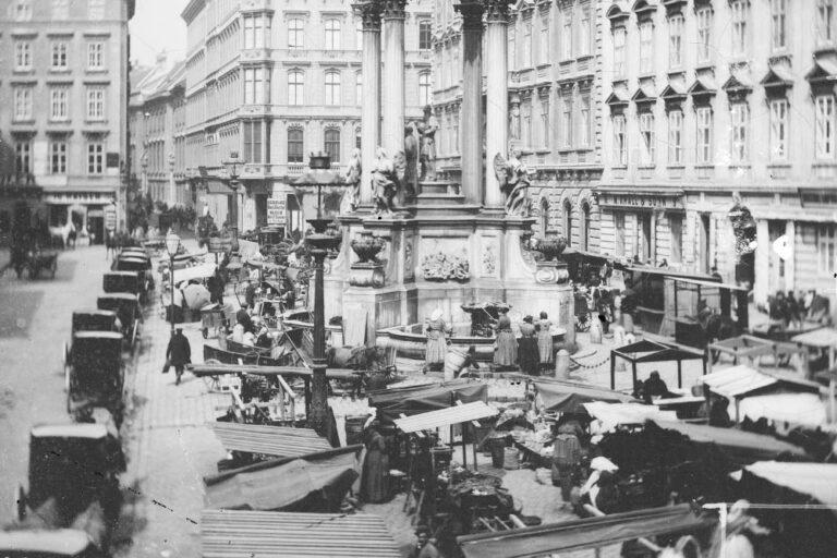 Markstände, Hoher Markt, 19. Jahrhundert, Wien