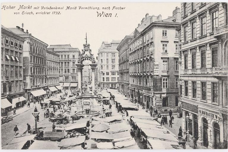 historische Aufnahme, Markt, Wien
