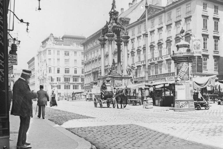 Pferdewagen am Hohen Markt, Wien