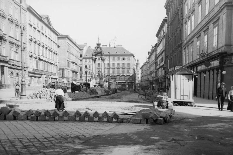 Pflasterarbeiten am Hohen Markt, Wien