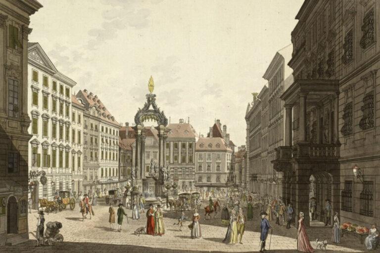 altes Bild des Hohen Markts in Wien