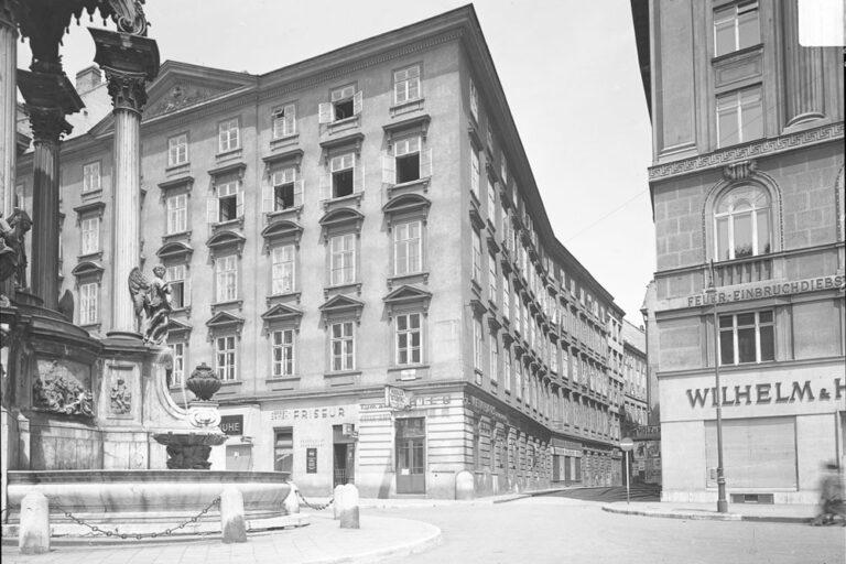 Hoher Markt, Judengasse, historische Aufnahme