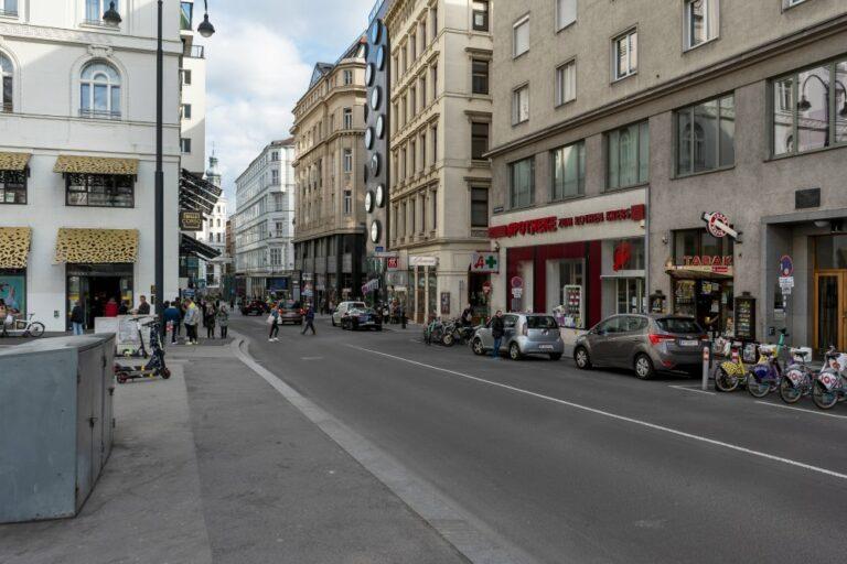 Hoher Markt Richtung Lichtensteg, Rotenturmstraße und Lugeck