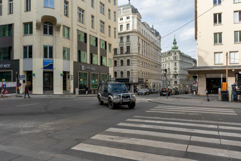 Hoher Markt, Marc-Aurel-Straße, Zebrastreifen, Kreuzung
