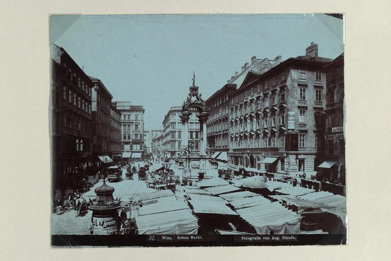 alte Aufnahme des Hohen Markts, Wien