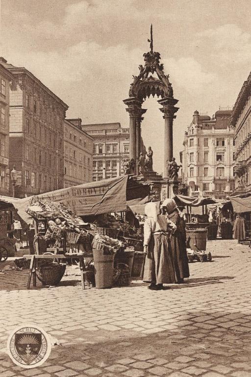 Marktstände am Hohen Markt in den 1910er-Jahren (Wien Museum)