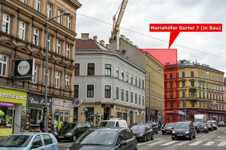 Mariahilfer Gürtel, Altbauten, Autos
