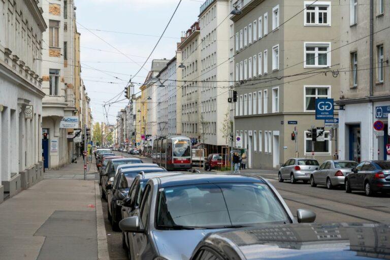 Fasangasse: die Hauptstraße des Fasanviertels (Foto: 2021)