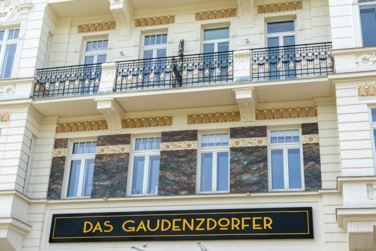 Das Gaudenzdorfer, renovierte Fassade, Meidling, Wien