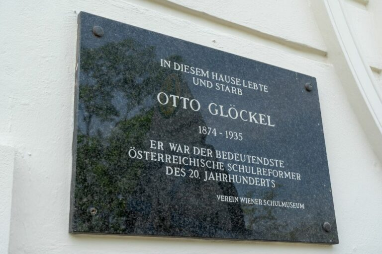 Gedenktafel für Otto Glöckel, Gaudenzdorfer Gürtel 47, Meidling