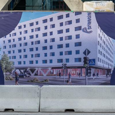 Der Hotel-Block vom Hauptbahnhof