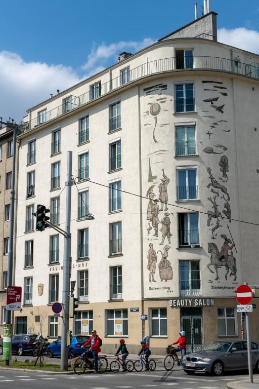 Wohnhaus, Fasanviertel, Kunst am Bau, Wien