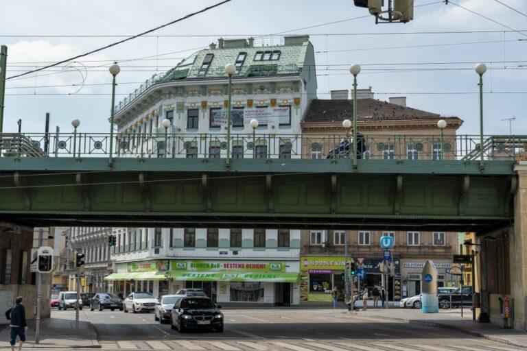 Brücke, U6, Stadtbahn, Jugendstil, Otto Wagner, Wien