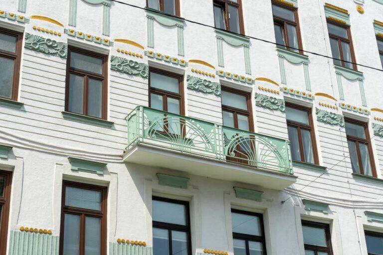 Jugendstilfassade, Balkon, Wien