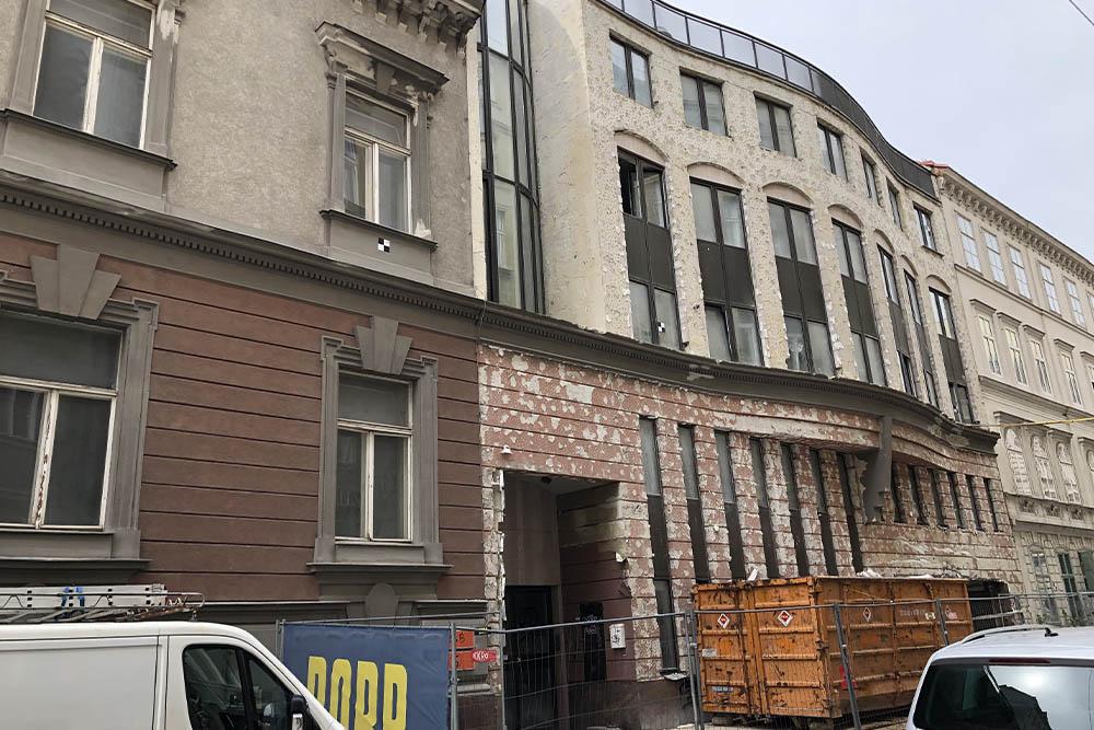 Gebäude wird abgerissen, Wien, Alsergrund, Wilhelm Holzbauer