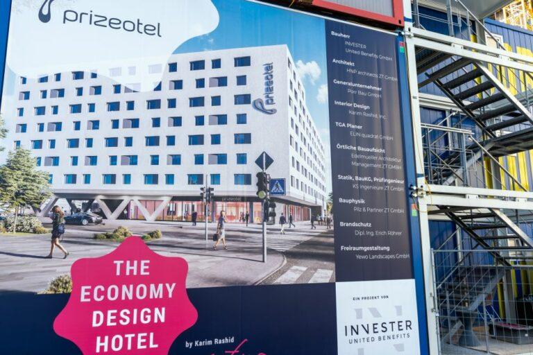 Prizeotel, Wien, Plakat, Baustelle, Hauptbahnhof