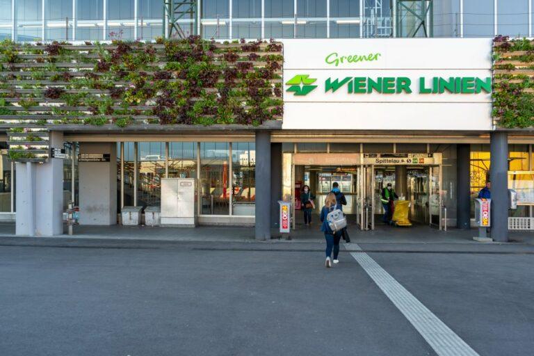 Fassadenbegrünung, Spittelau, U-Bahn, Wiener Linien
