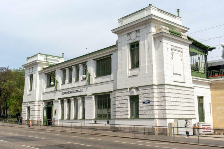 U-Bahn-Station in Wien, Mariahilfer Gürtel, Jugendstil, Otto Wagner