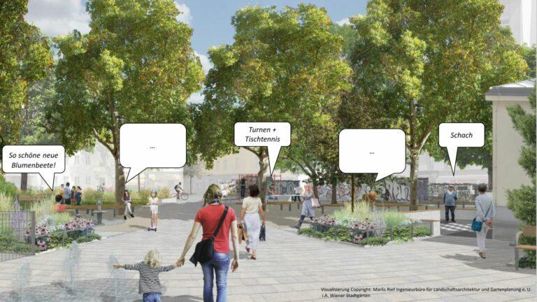 Visualisierung, Kardinal-Nagl-Platz, Umgestaltung