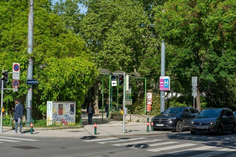 Kardinal-Nagl-Platz bei der Erdbergstraße (2020)