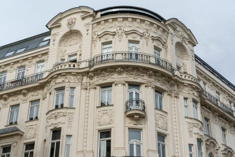 Jahrhundertwendehaus, Linke Wienzeile, Naschmarkt, Fassadendekor, Architekt: Franz Neumann, Mariahilf, Wien